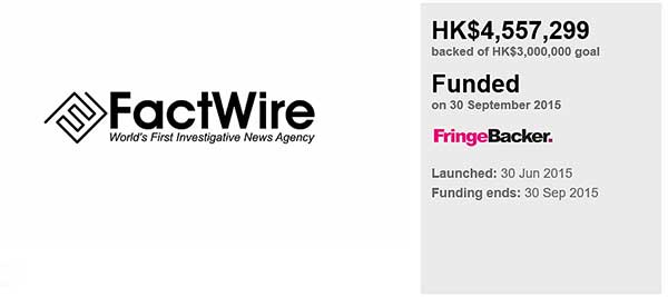 眾籌factwire最新數據