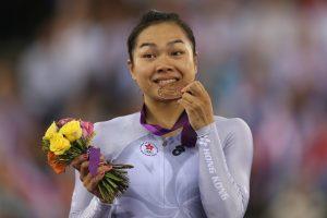 李慧詩在上屆倫敦奧運也是穿著灰色戰衣創造摘銅佳績。