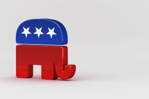 Republican elephant, mascot of the Republican Party, USA