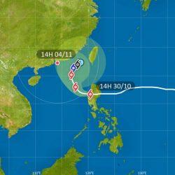 本港一號風球生效  颱風玉兔進入南海風力減弱