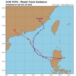颱風「玉兔」將入南海  威力已經大大減弱